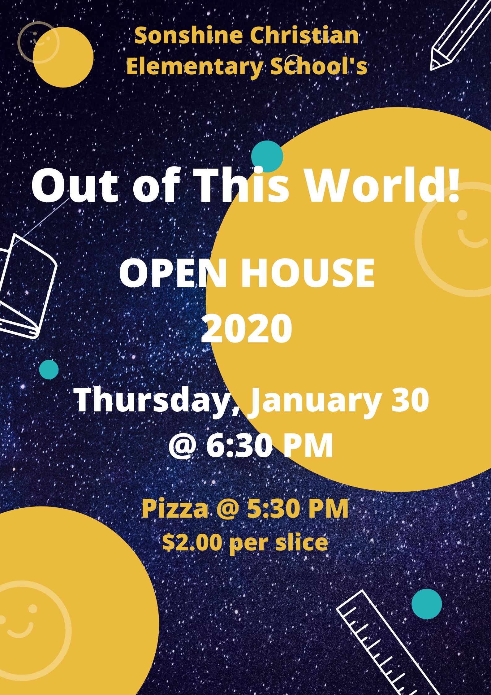 2020 Open House & Pizza Dinner